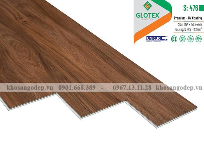 Sàn nhựa hèm khóa Glotex 4mm S476