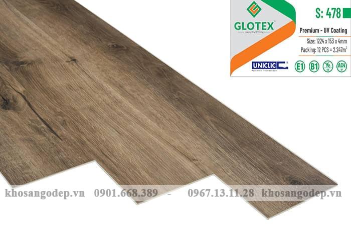 Sàn nhựa hèm khóa Glotex 4mm S478
