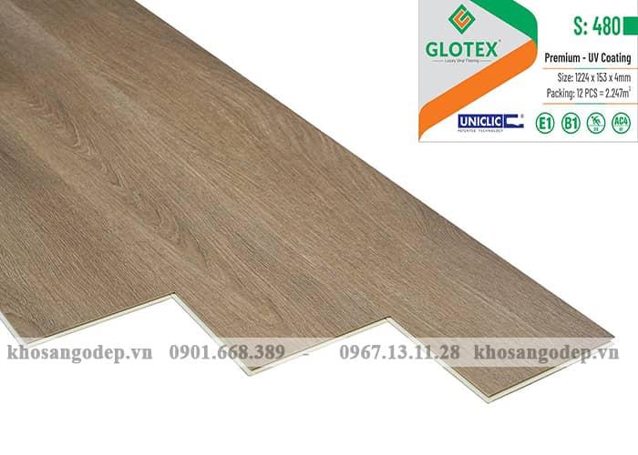 Sàn nhựa hèm khóa Glotex 4mm S480