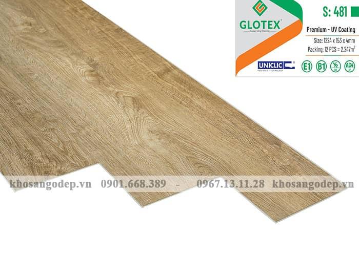 Sàn nhựa hèm khóa Glotex 4mm S481