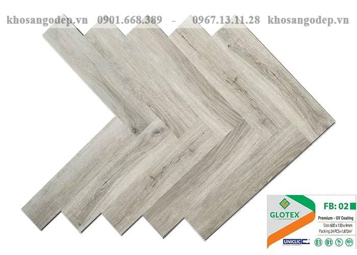 Sàn nhựa Glotex xương cá FB02