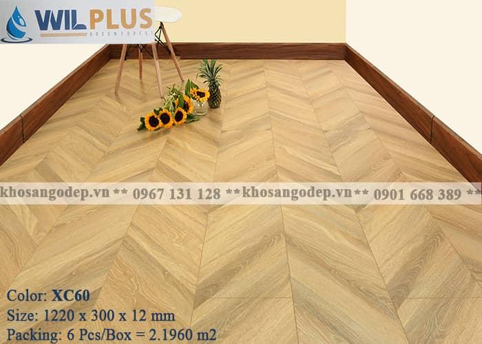 Sàn gỗ Wilplus xương cá XC60