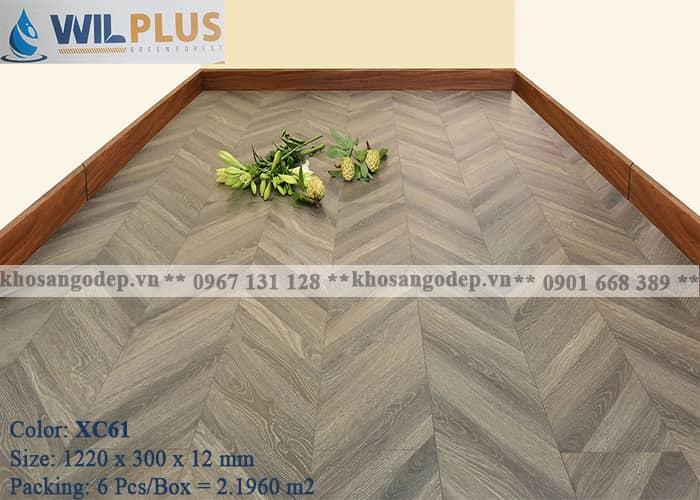 Sàn gỗ xương cá Wilplus 3D XC61