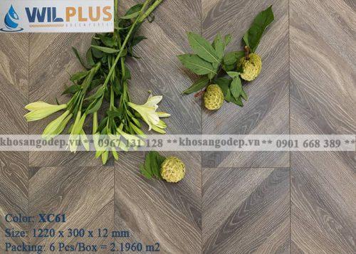 Sàn gỗ xương cá Wilplus XC61 tại Hà Nội