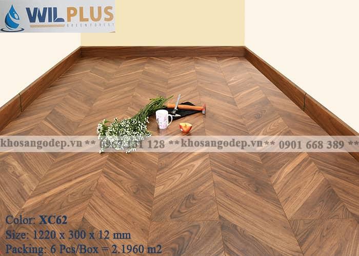 Sàn gỗ xương cá Wilplus XC62