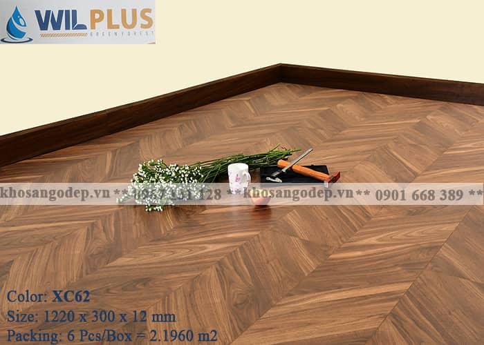Sàn gỗ xương cá Wilplus 3D XC62 tại Hà Nội