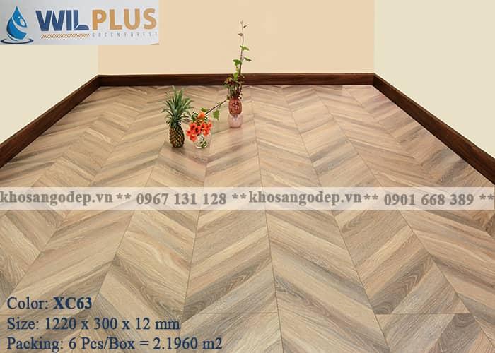 Sàn gỗ xương cá Wilplus 3D XC63