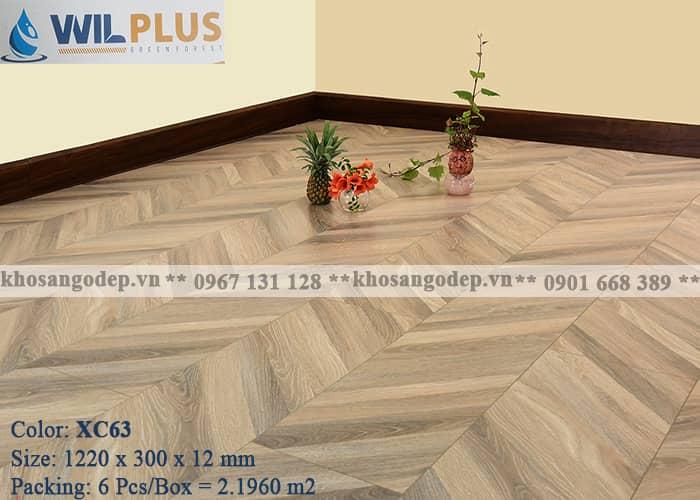 Sàn gỗ xương cá Wilplus 3D XC63 tại Hà Nội