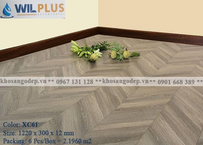 Sàn gỗ xương cá Wilplus XC61