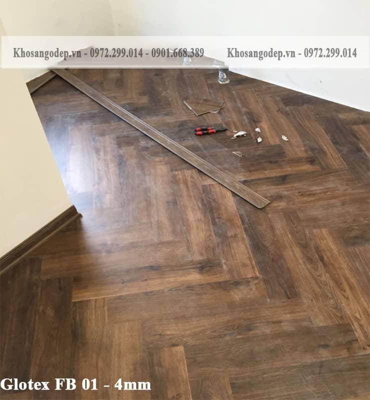 Sàn nhựa Xương Cá Glotex FB01