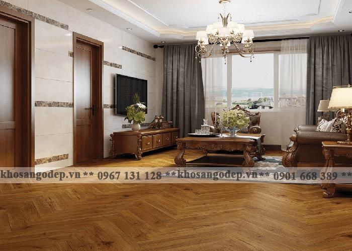 Sàn gỗ cadino xương cá tại Hà Nội
