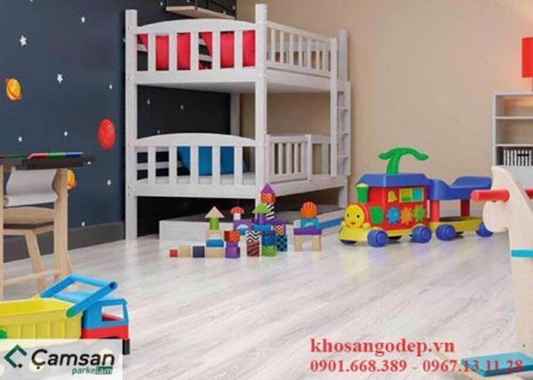 Sàn gỗ màu sáng thích hợp cho phòng trẻ em