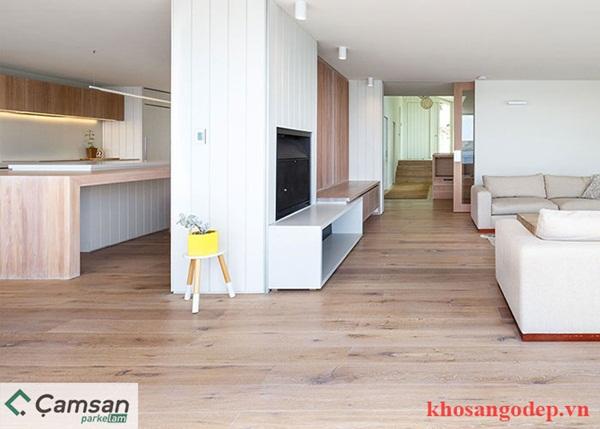 Sàn gỗ công nghiệp chịu nước Camsan