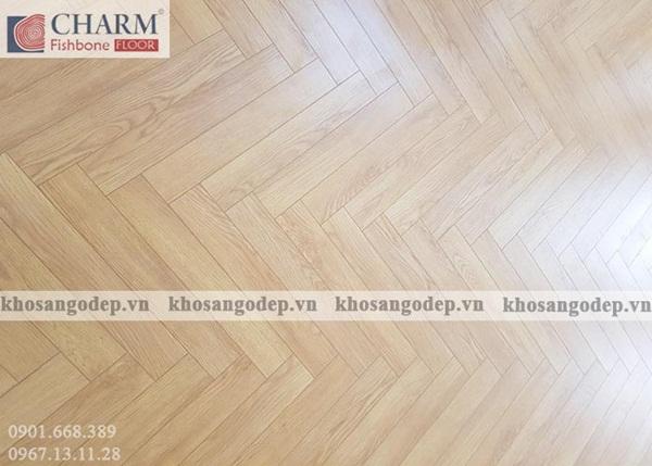 Mẫu sàn gỗ màu ghi sáng cho căn phòng hiện đại