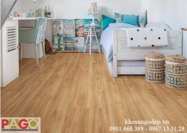 Sàn gỗ Pago cốt xanh có khả năng chống ẩm, va đập cao