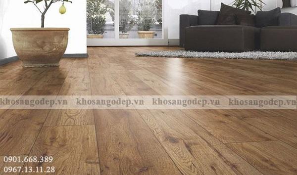 Sàn gỗ cốt xanh chịu nước tốt, độ bền cao
