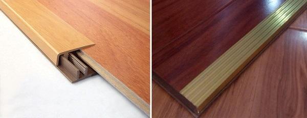 Kết nối sàn bằng nẹp chữ T hoặc một số vật liệu chuyên dụng khác