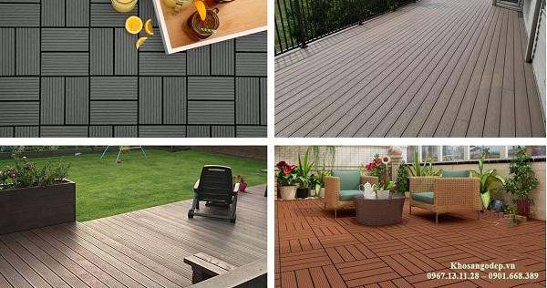 Sàn gỗ nhựa ngoài trời được ứng dụng phổ biến trong đời sống