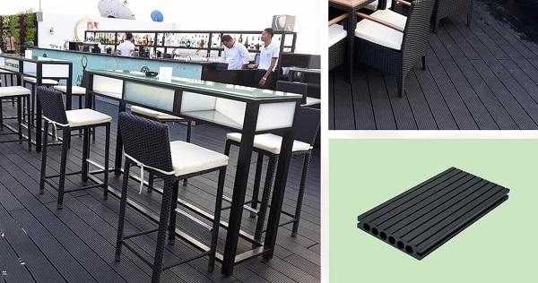 Sàn gỗ nhựa ngoài trời, sàn gỗ nhựa ban công rất dễ vệ sinh và bảo dưỡng