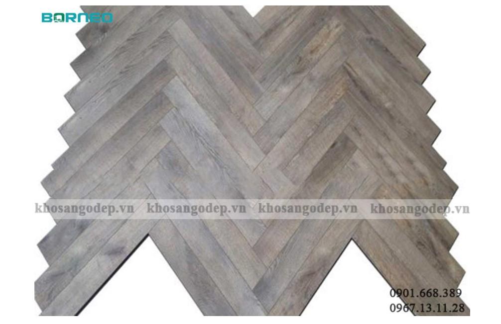 Sàn gỗ xương cá có màu xám cũng là một sự lựa chọn độc đáo dành cho ngôi nhà của quý khách
