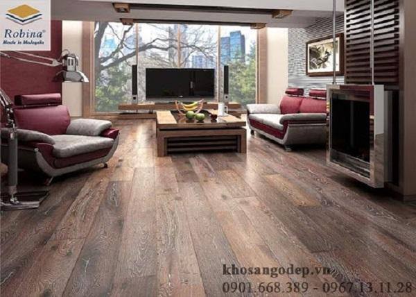 Sàn gỗ Malaysia có màu sắc vân gỗ tự nhiên