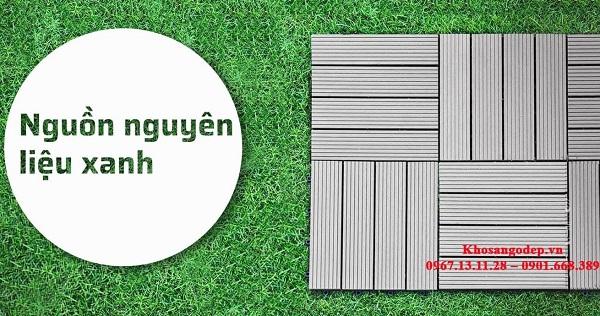Vỉ gỗ nhựa Composite ngoài trời được tạo thành từ gỗ nguyên sinh