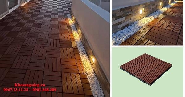 Vỉ gỗ nhựa Composite lắp ban công, sân thượng