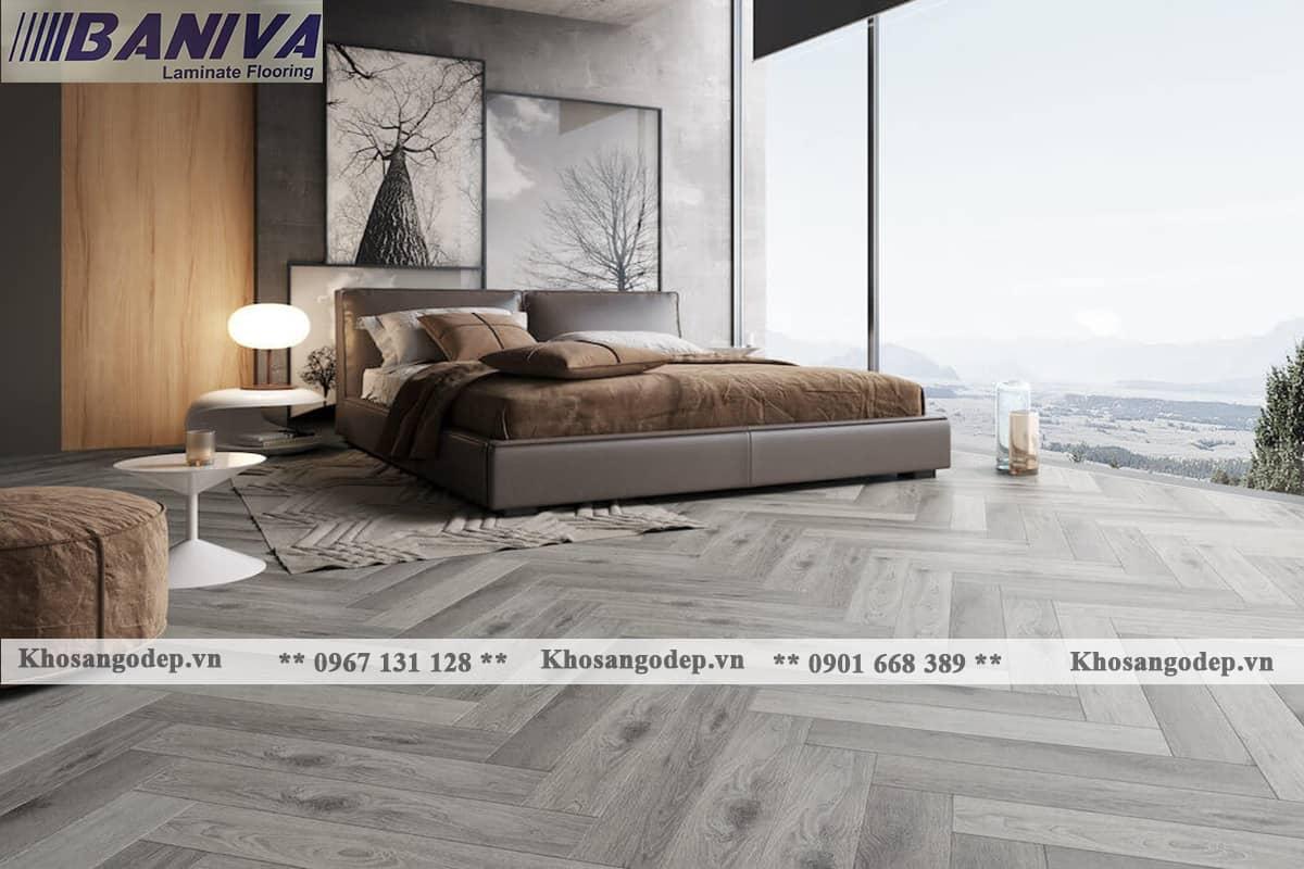 Thi công sàn gỗ xương cá Baniva
