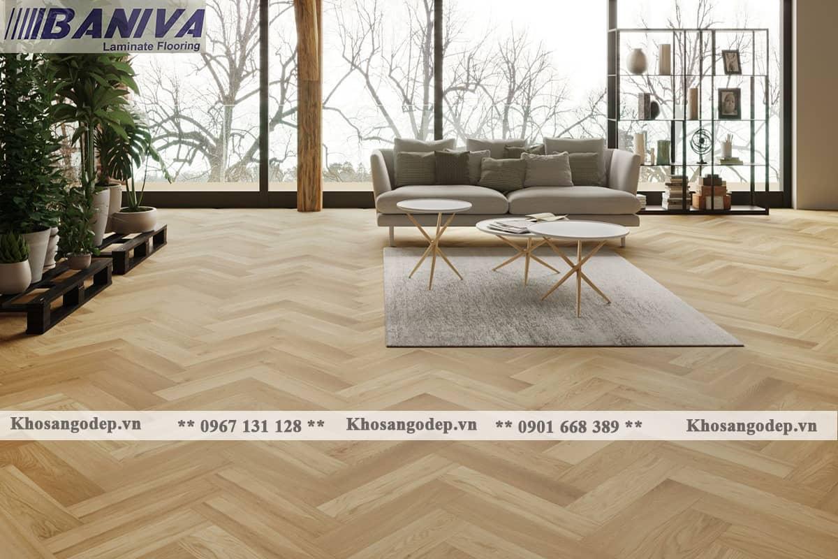 Sàn gỗ xương cá Baniva