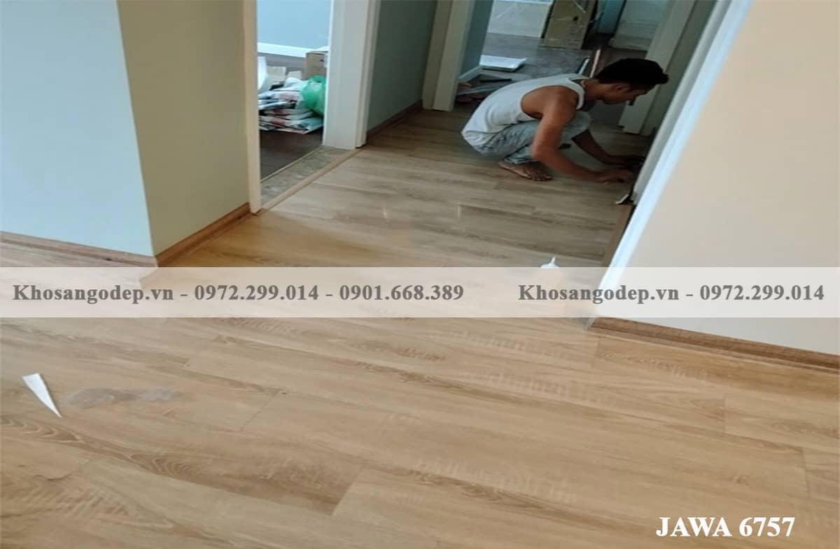 Sàn gỗ Cốt Xanh Jawa 6757