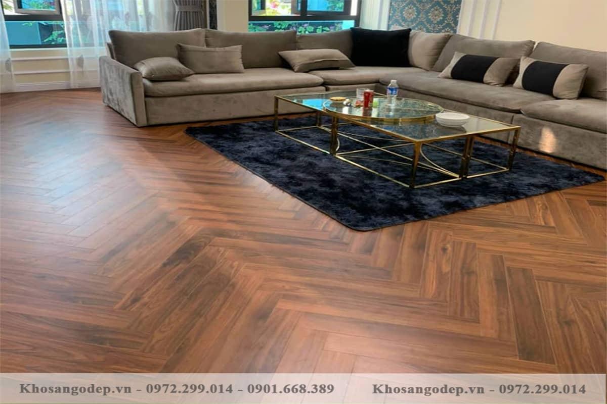 Sàn gỗ xương cá indonesia