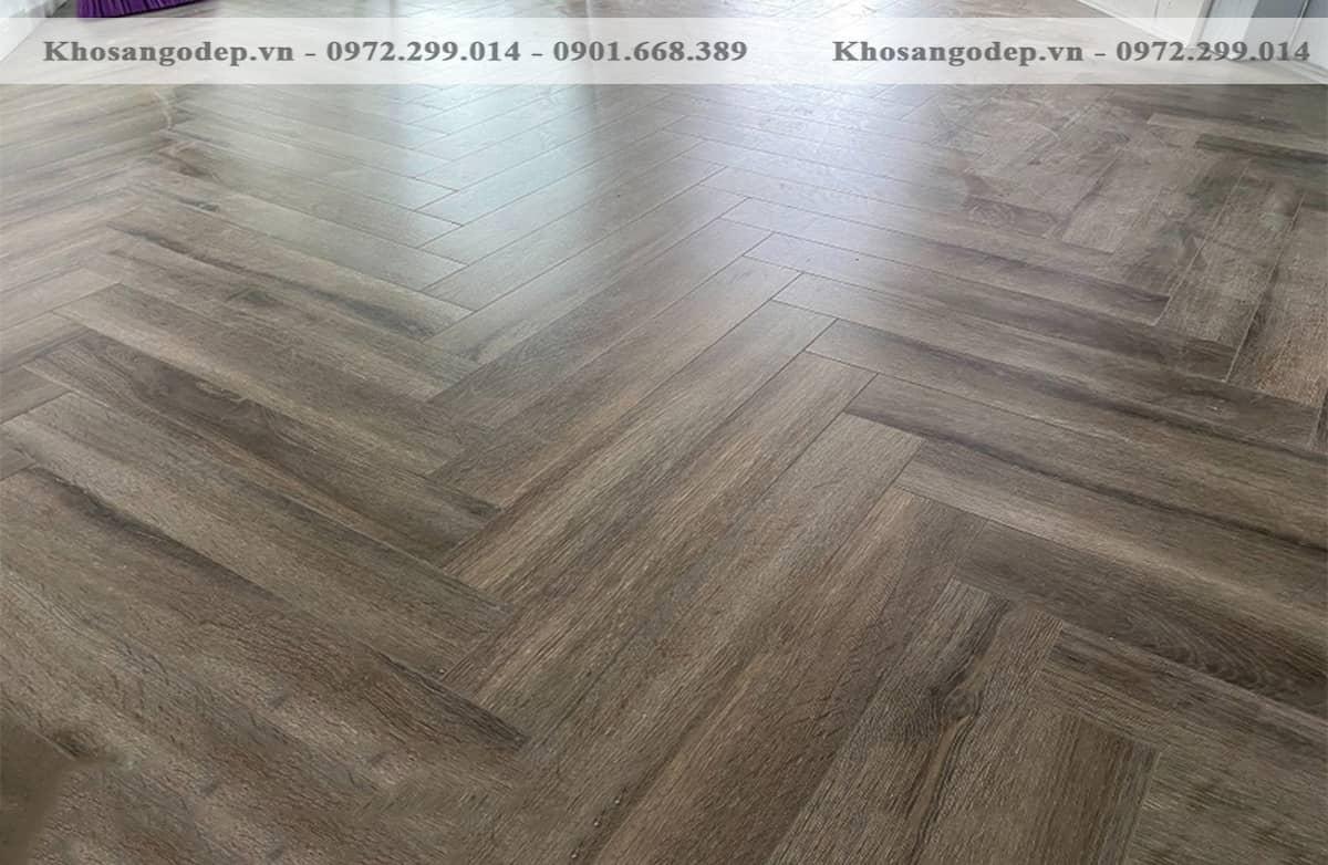 Sàn gỗ xương cá Cốt Xanh