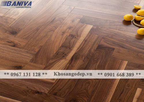 Sàn gỗ xương cá Baniva S359