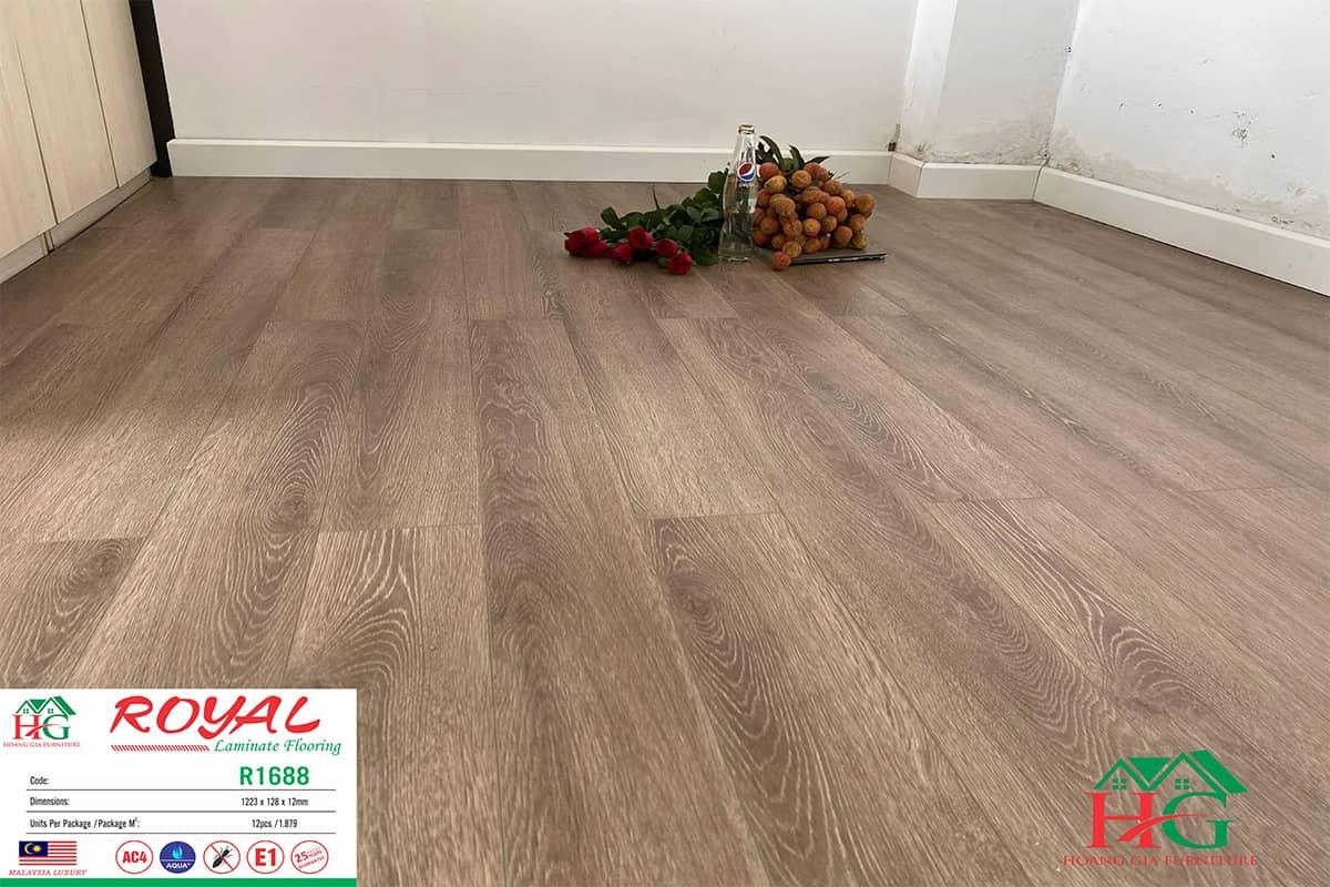 Sàn gỗ màu nâu xám