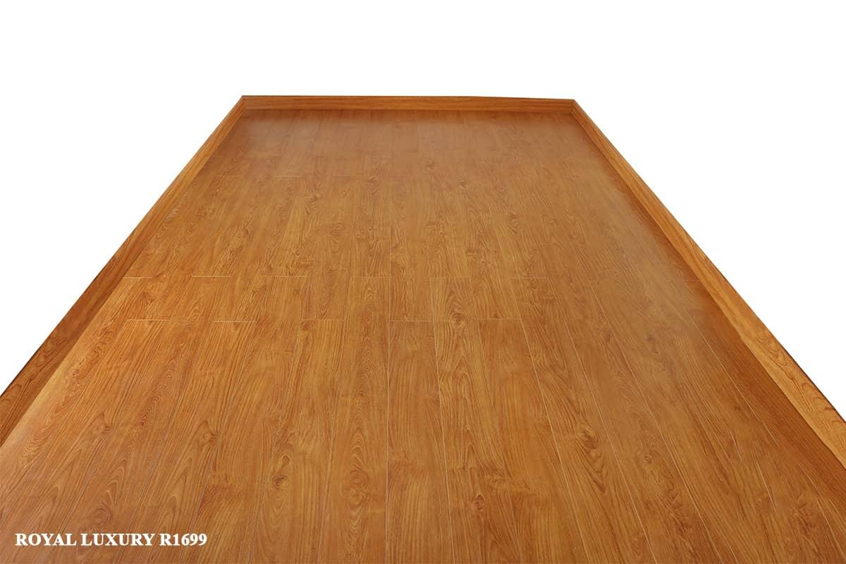 Sàn gỗ màu vàng cánh dán