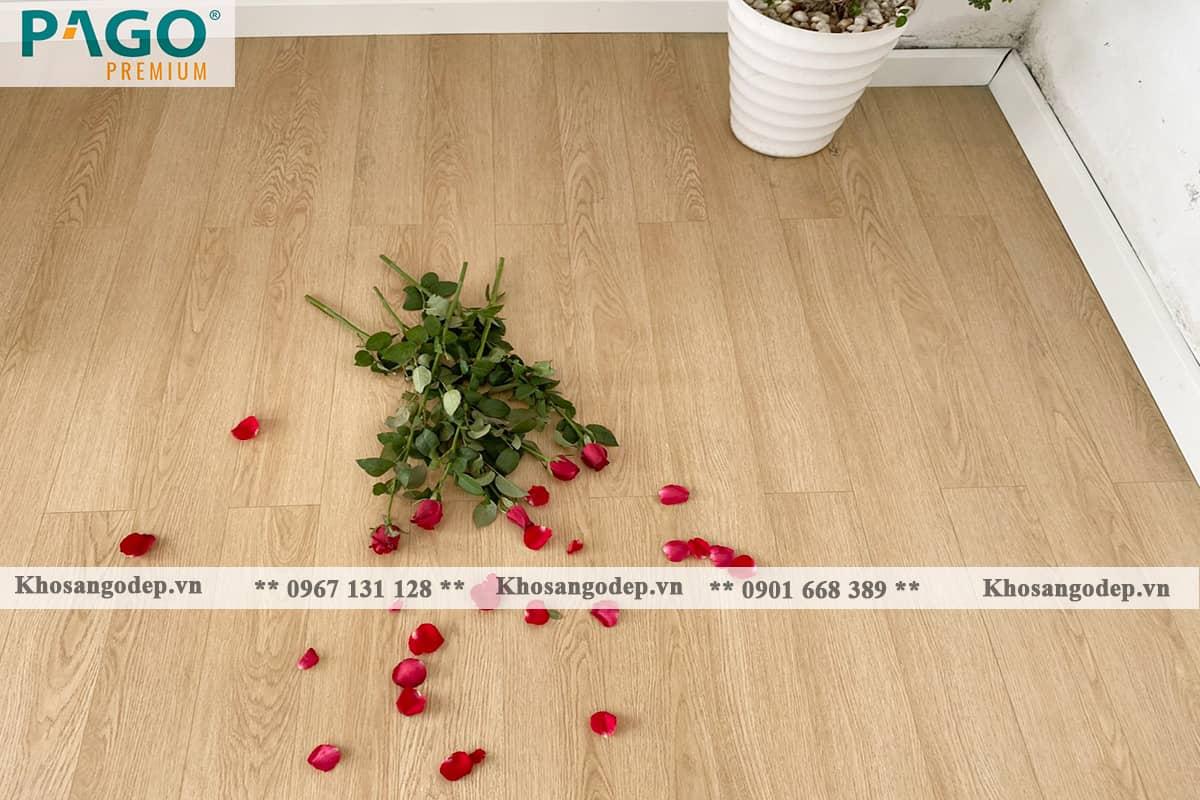 thi công sàn gỗ pago Premium M8113