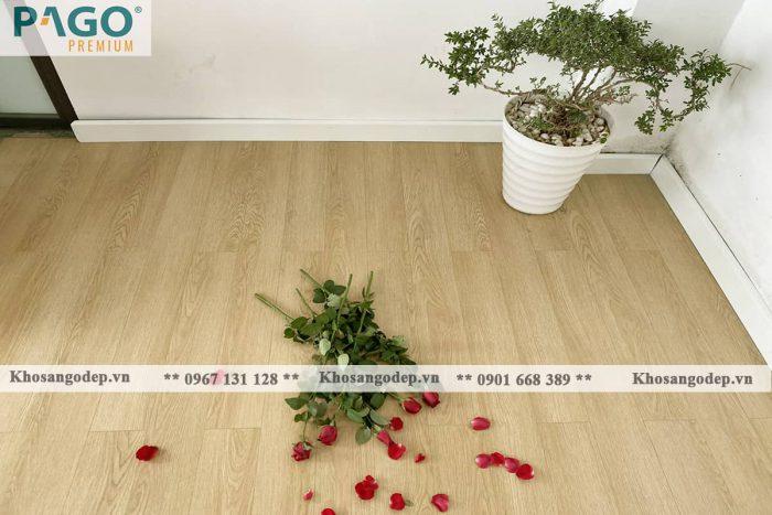 Thi công sàn gỗ pago premium M8112 tại Đống Đa
