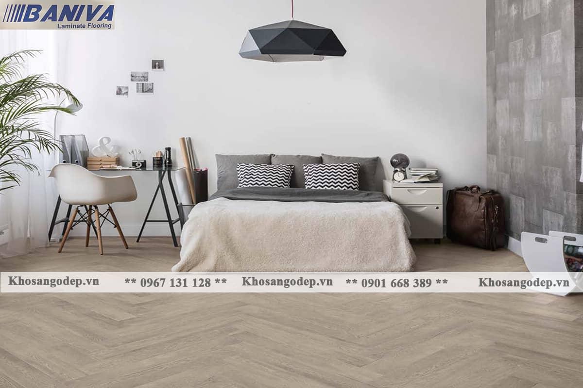 Sàn gỗ xương cá Baniva S300