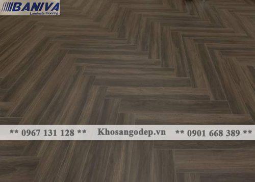 Sàn gỗ xương cá Baniva S336