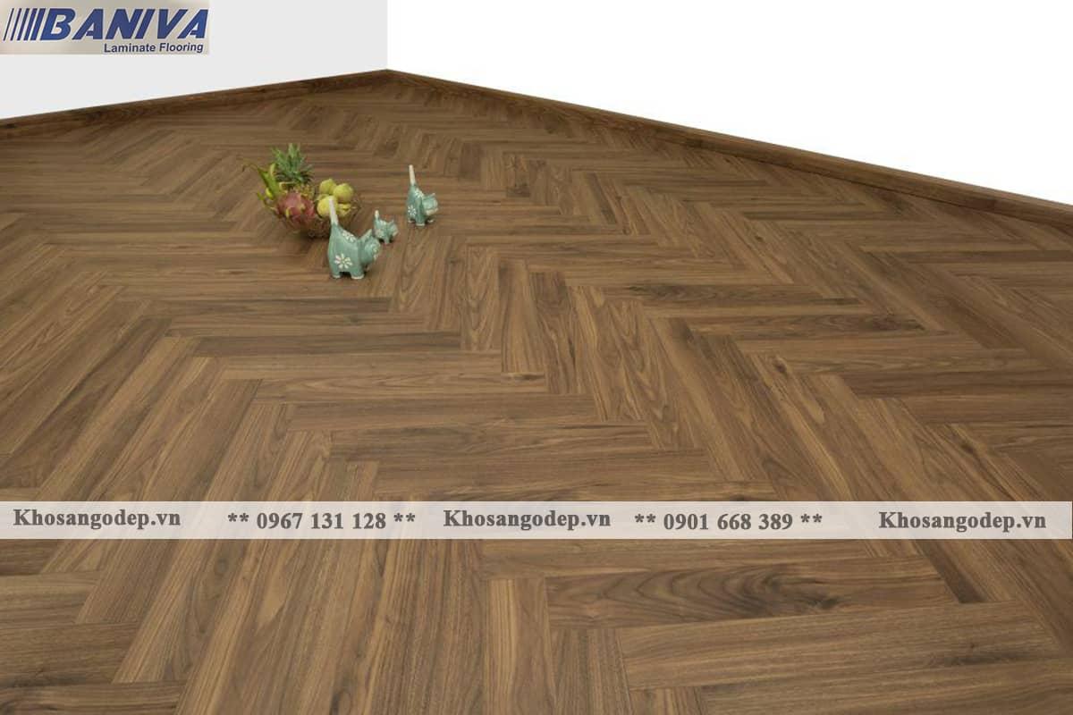 Sàn gỗ xương cá Baniva S359 tại Hà Nội