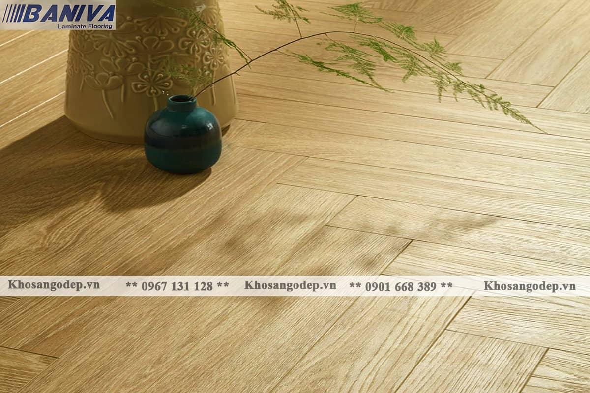 Sàn gỗ xương cá Biniva S380