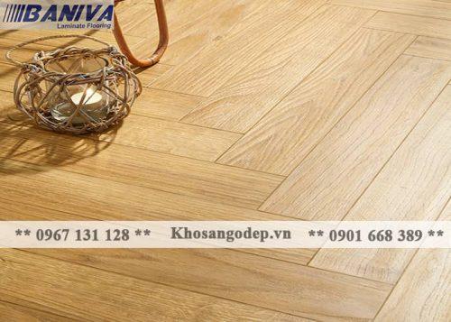 Sàn gỗ xương cá Baniva S380