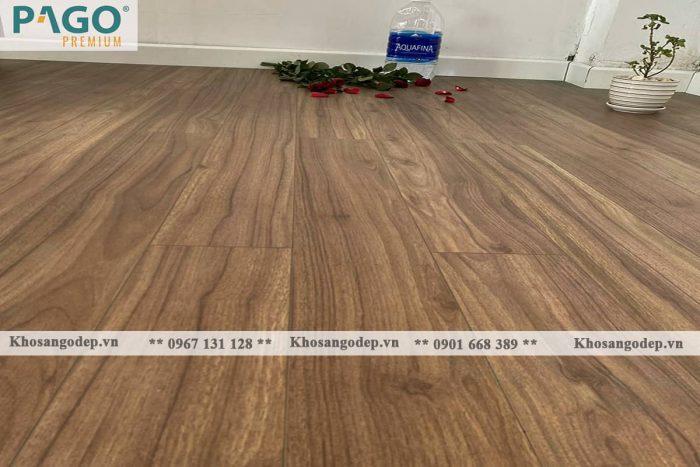 Thi công sàn gỗ pago Premium M8115