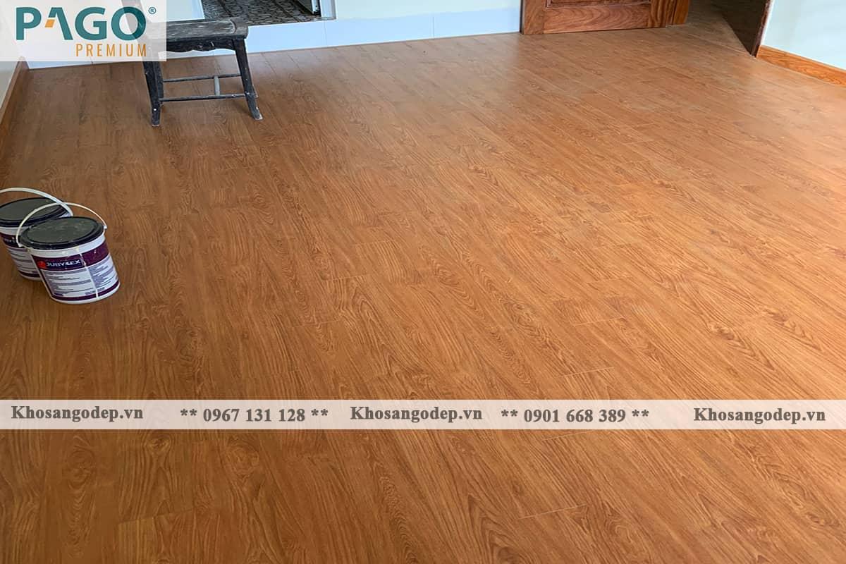 Thi công sàn gỗ Pago Premium M8114 tại Hoàng Mai