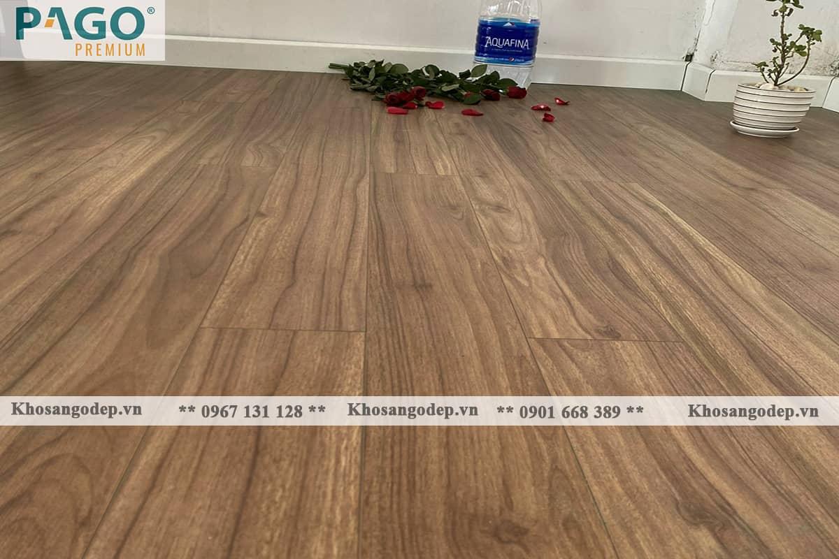 Thi công sàn gỗ pago Premium M8115 tại Thanh Trì