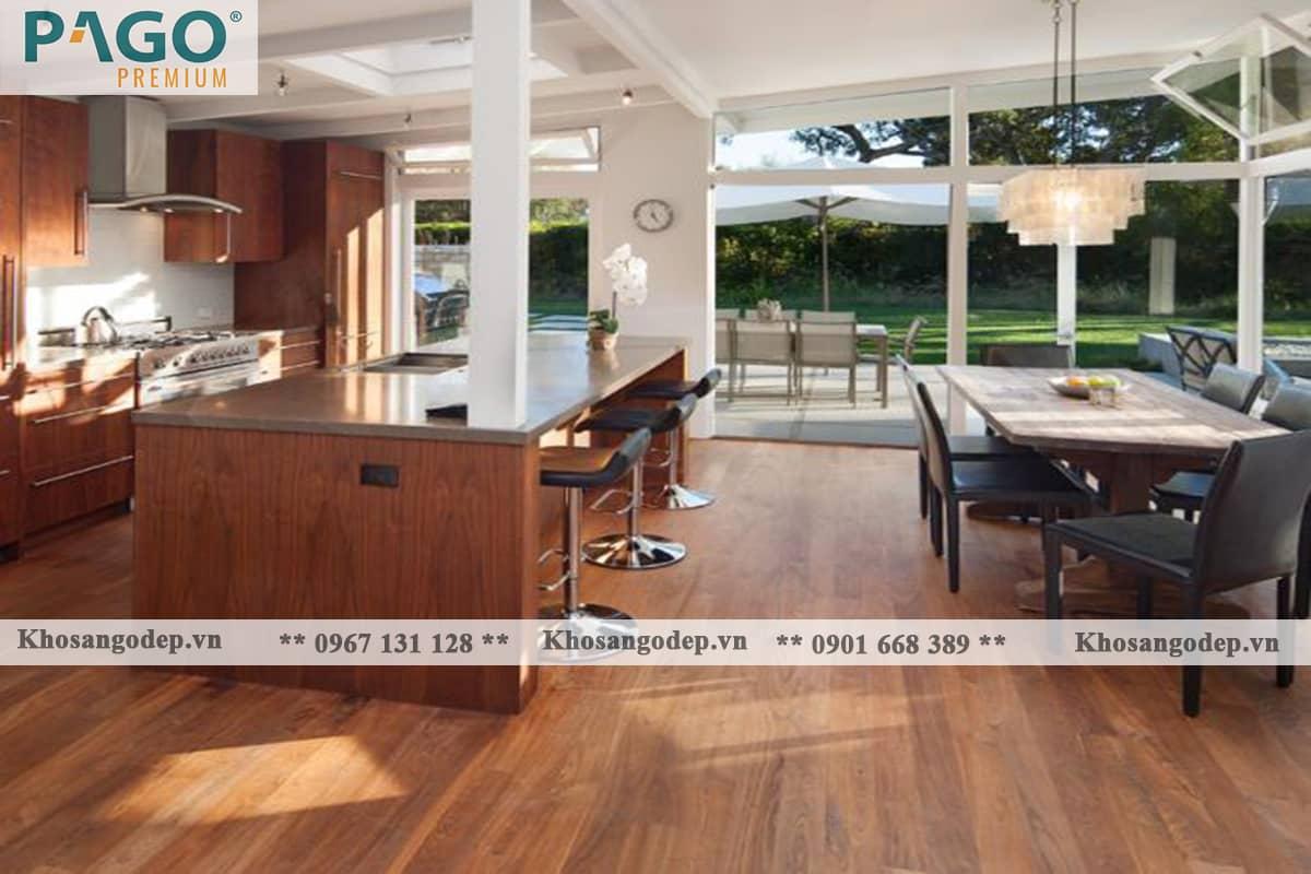 Thi công sàn gỗ Pago Premium M8116 tại Hai Bà Trưng