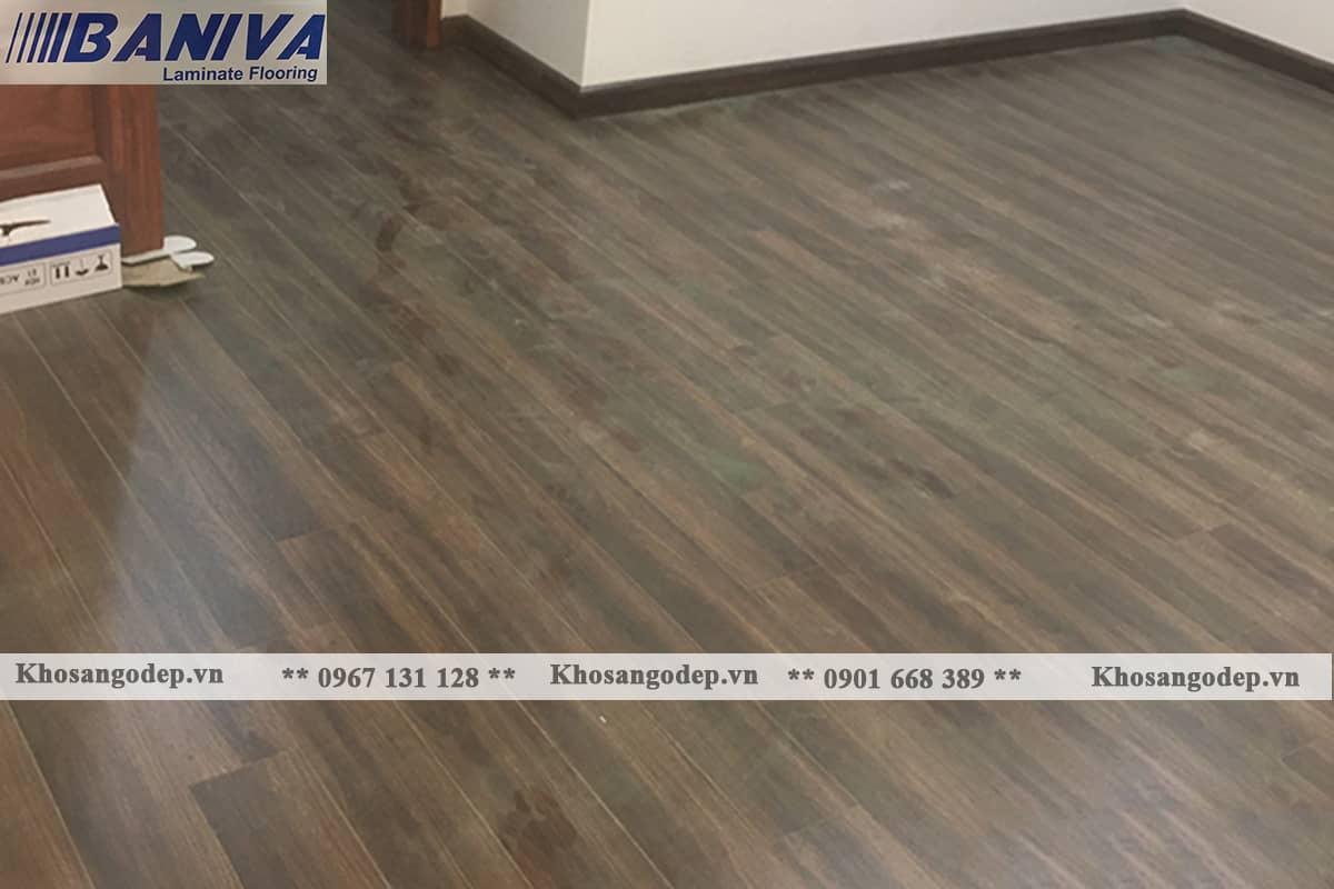 Thi công sàn gỗ Baniva A336