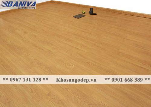 Thi công sàn gỗ Baniva A368 tại Hà nội