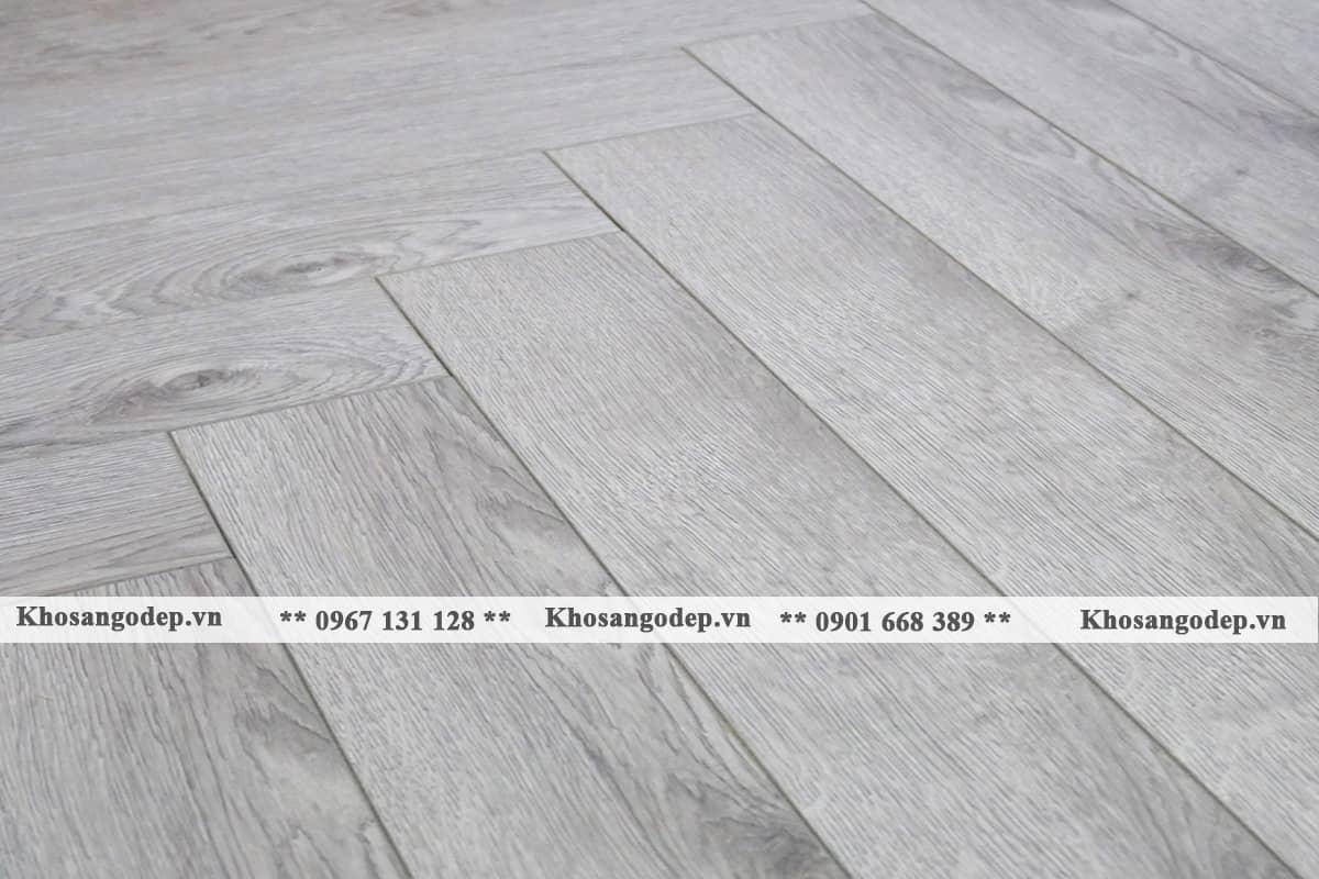 Sàn gỗ màu xám