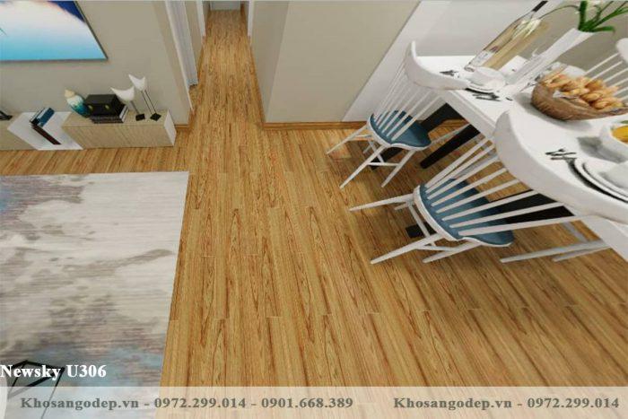 sàn gỗ Newsky U306 12mm